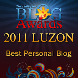2011 Philippine Blog Awards Best Personal Blog Finalist - Luzon Category