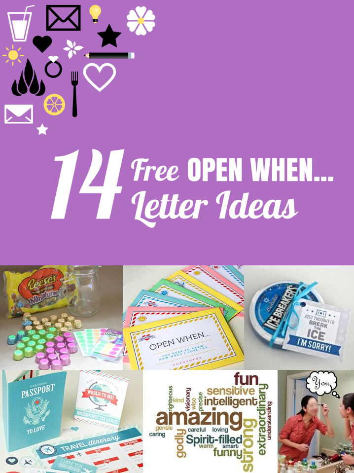 graphic about Open When Letters Printable known as A Players Spouse: 14 Free of charge Printable \