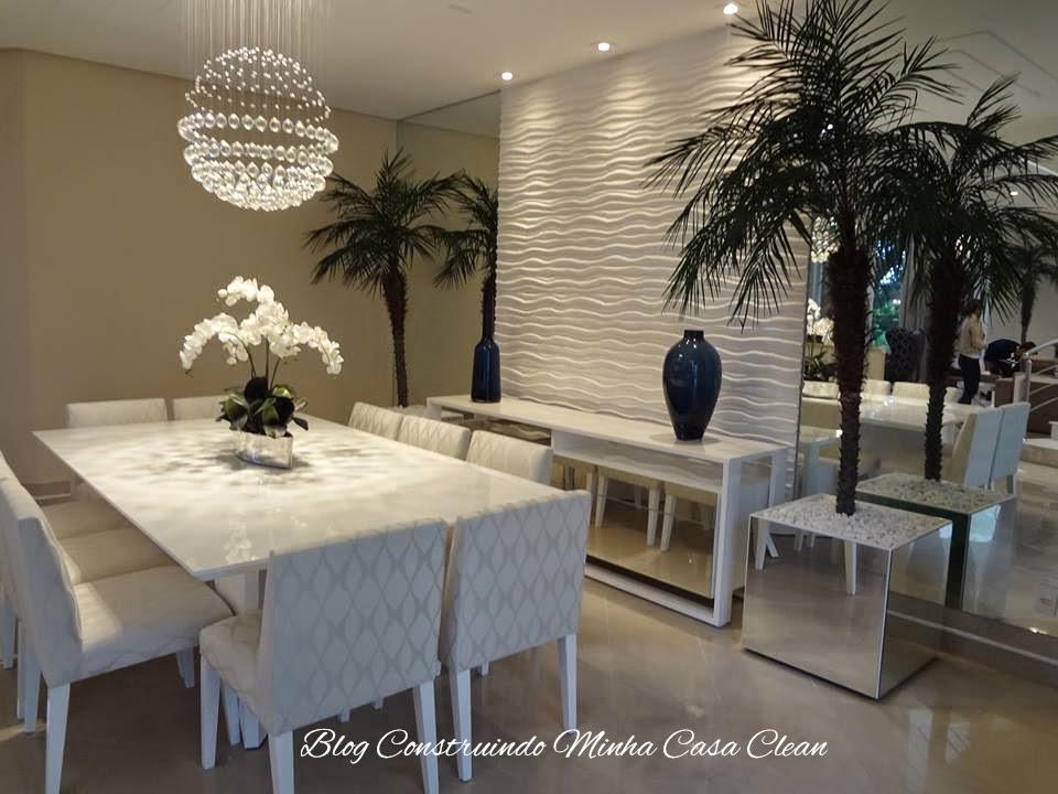 Sala De Jantar Com Vidro Na Parede ~ Construindo Minha Casa Clean 21 Salas de Jantar dos Sonhos com Buffet
