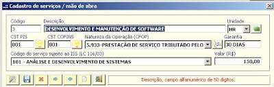 NeXT ERP serviços ISSQN
