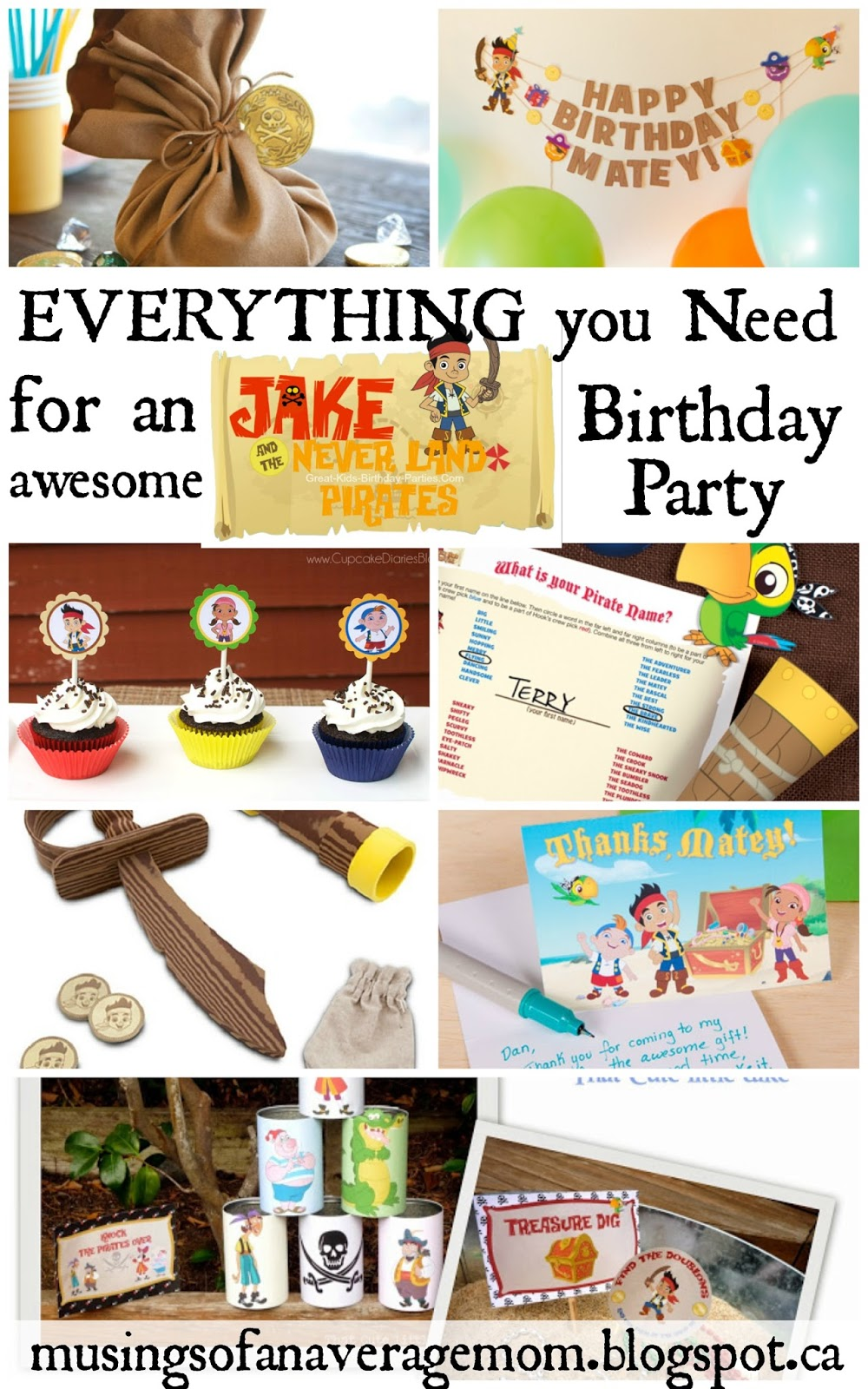 Musings of an Average Mom: Free Printable Jake Party