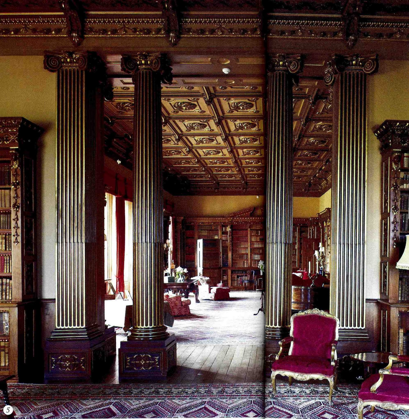 The designer 39 s muse the real downton abbey for Castle interior designs