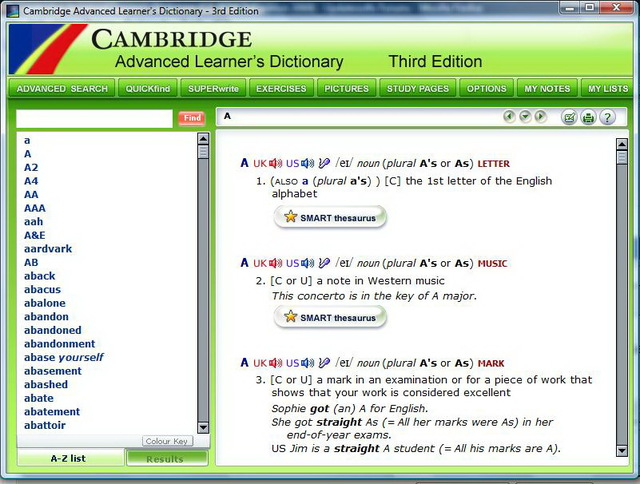 cambridge dictionary for windows 8
