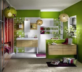 interior+ruang+tamu+warna+hijau Warna Hijau Ruang Keluarga