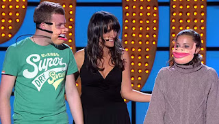 Nina Conti and her two human puppets.