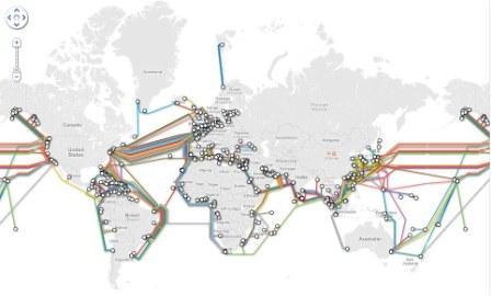 peta internet bawah laut