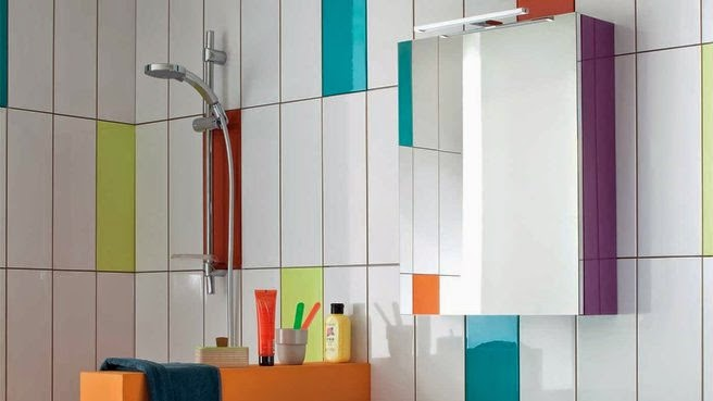 multicolored bathroom tile designs for small bathrooms