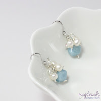 Cluster Aquamarine Earrings - magsbeadscreation.com