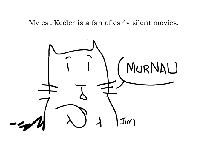 cat, Murnau, Jim, fan, silent movies