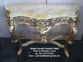 Supplier Indonesia classic furniture classic console table carved mahogany gold leaf painted