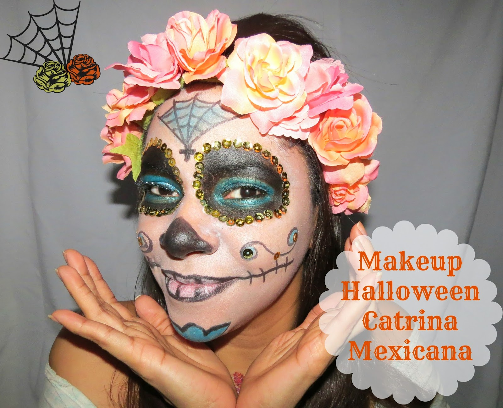 (Makeup) Maquillaje para Halloween , \u0026quot;Catrina Mexicana /Sugar Skull\u0026quot;. Hola Chicas\u2026