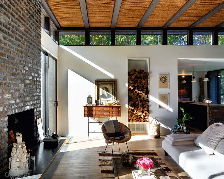 Interiors home of interiorista athena calderone in suffolk for Leather house victor ny