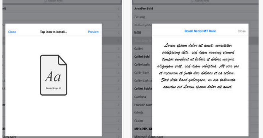Add Awesome Fonts to Your iPad Using AnyFont App