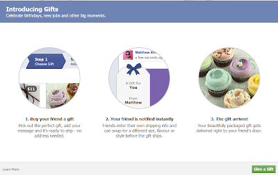 Screencap of Facebook's Gifting page.