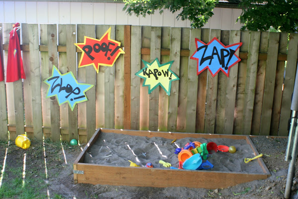 superhero party games activities pit