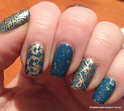 KBShimmer Don't Teal Anyone with gold stamping