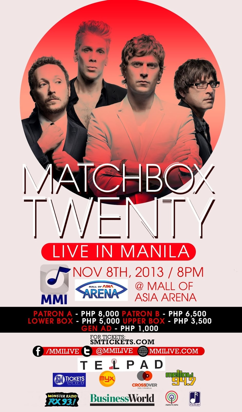 Matchbox Twenty at the Mall of Asia Arena Philippines