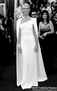 Gwyneth Paltrow over red carpet at 2012 Academy Awards - Oscar arrival