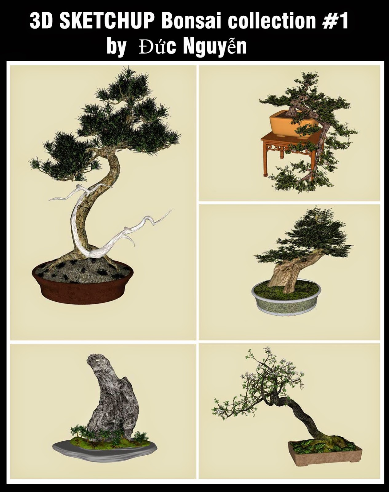 Tugas Kuliah Ku Sketchup Free 3d Resources Bonsai Collection 1