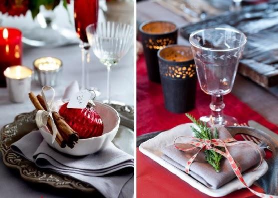 Decorar la mesa de navidad colores en casa - Como adornar la mesa en navidad ...