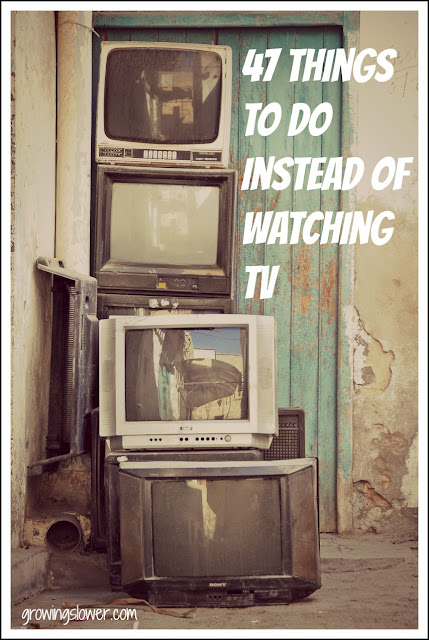 Broken TVs with caption 47 Things to do Instead of Watching TV