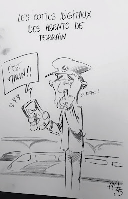 Petit compte rendu de l'animation de dessins satiriques en direct pour le Séminaires des SI de SNCF France et du Transilien. Il y avait d'autres dessins, mais je n'ai pas eu le temps de tous les photographier. En tout, un peu plus de 45 croquis en 7h de temps. Un bon moment de stress pour trouver les idées qui font mouche. Guillaume Néel©