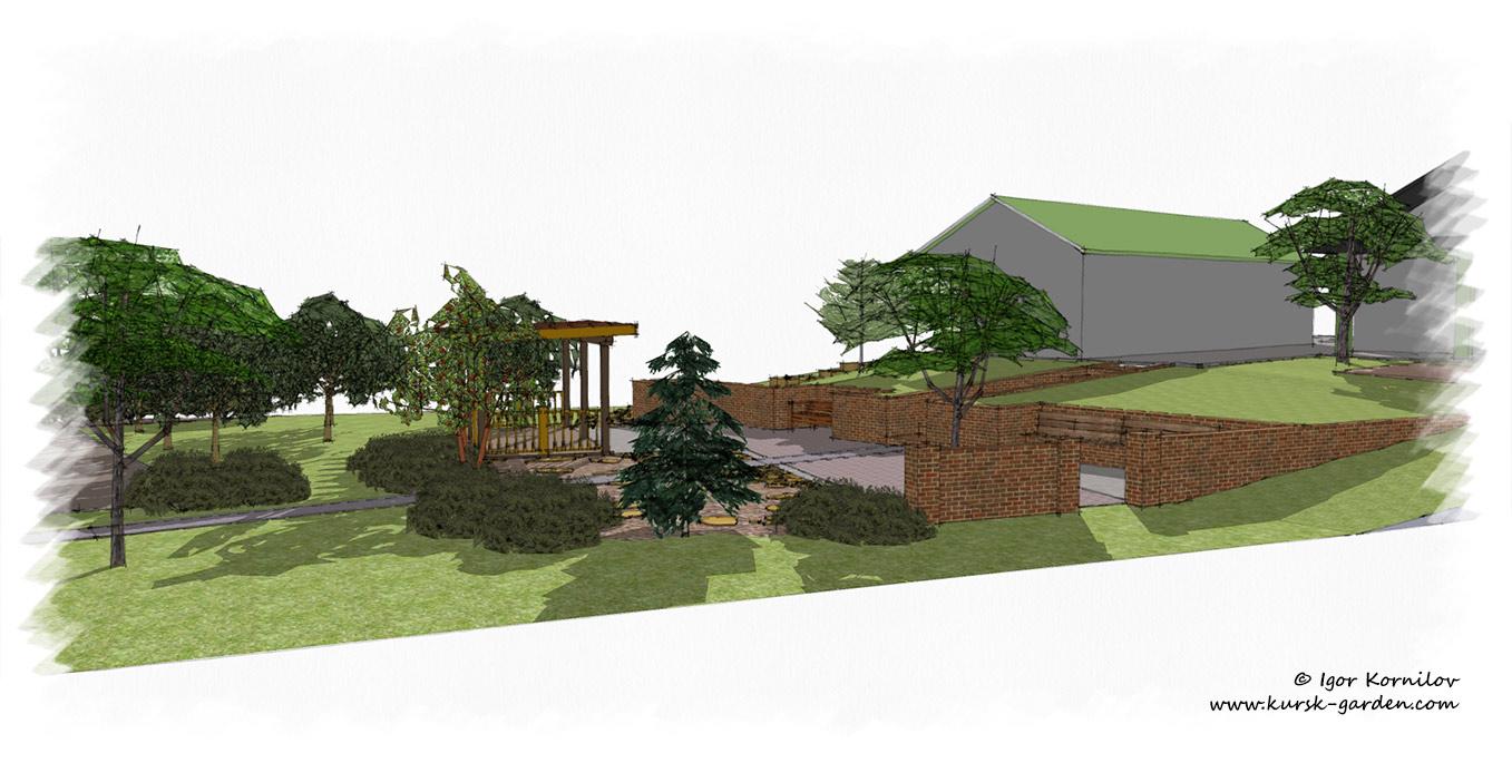 Маленький сад (ландшафтный проект)