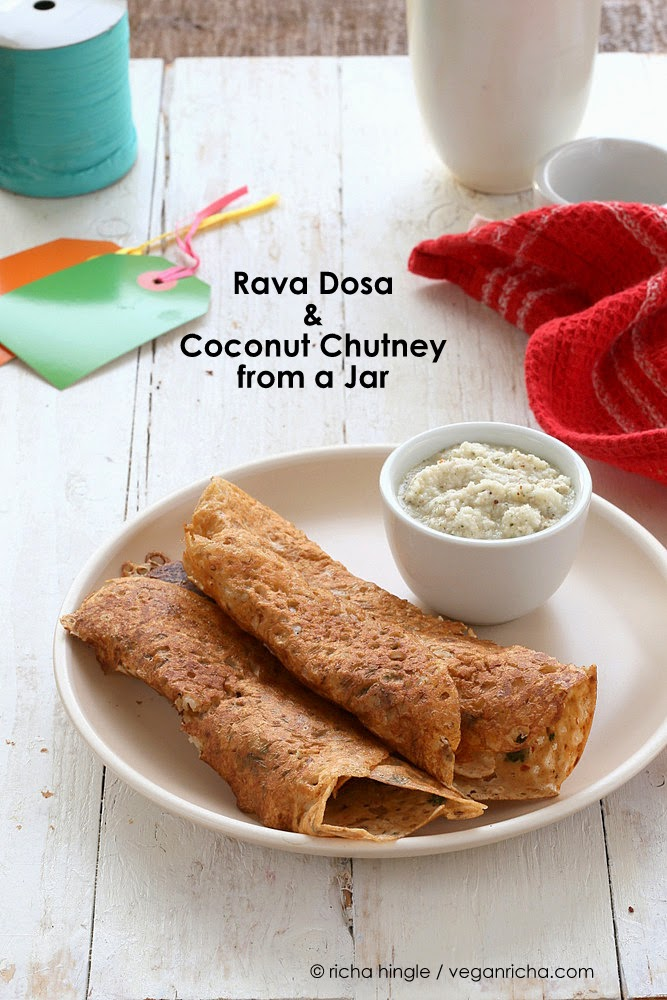 Rava Dosa Crepe and Coconut Chutney Mix in a Jar