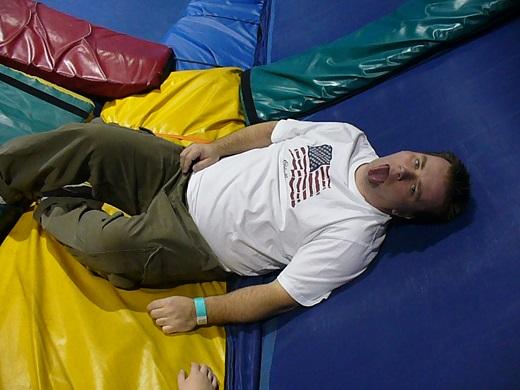 Skymania Las Vegas tired trampoline warehouse