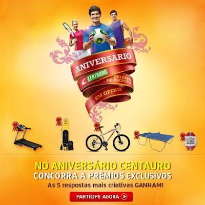 """Concurso Cultural """"Aniversário Centauro"""""""