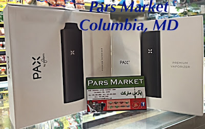 Pax 2 and Pax 1 next to each other on top of the counter at Pars Market Howard county Columbia Maryland 21045