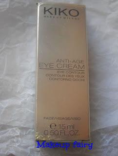 kiko antiage eye contour cream