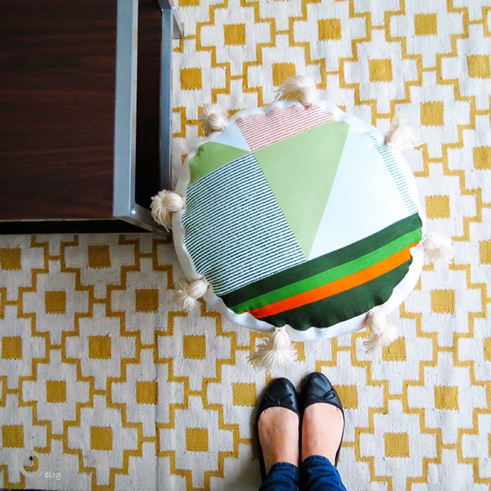 How to make a pouf with upcycled materials - Ohoh Blog
