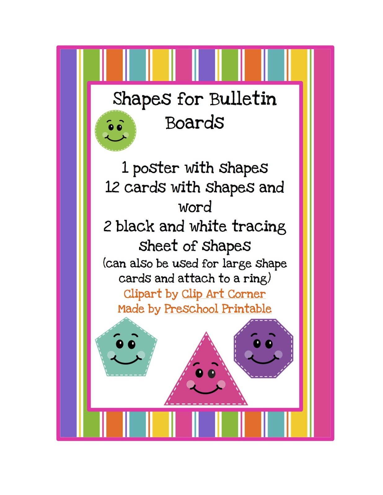 shapes for bulletin boards printable preschool printables