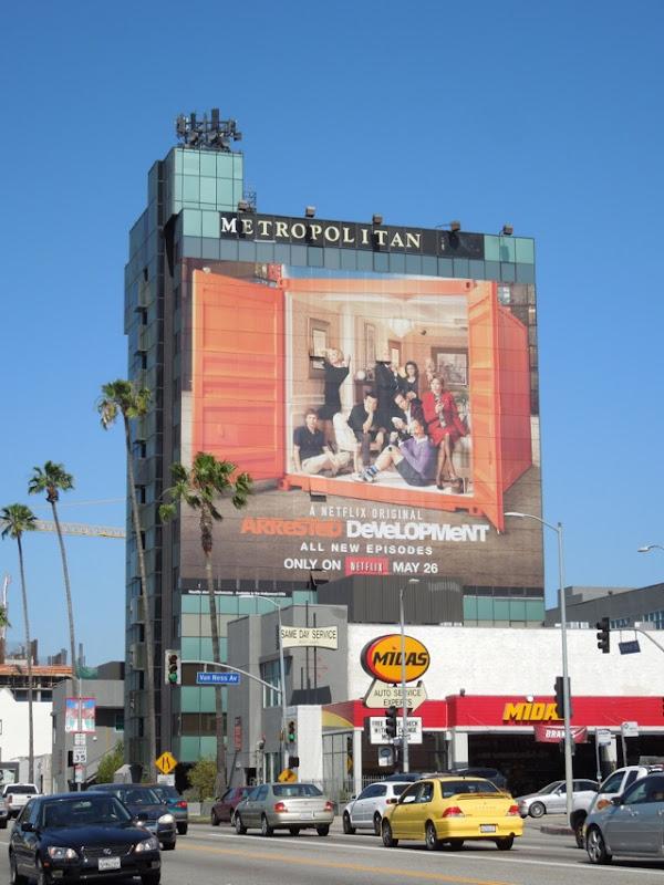 Giant Arrested Development 4 billboard