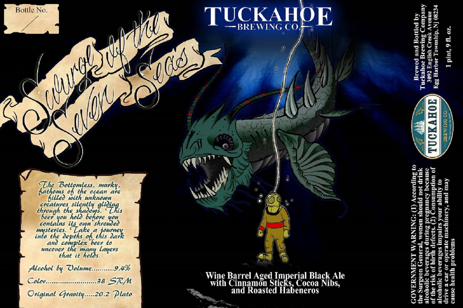 Tuckahoe Brewing, New Jersey, Beer, Scourge of the Seven Seas
