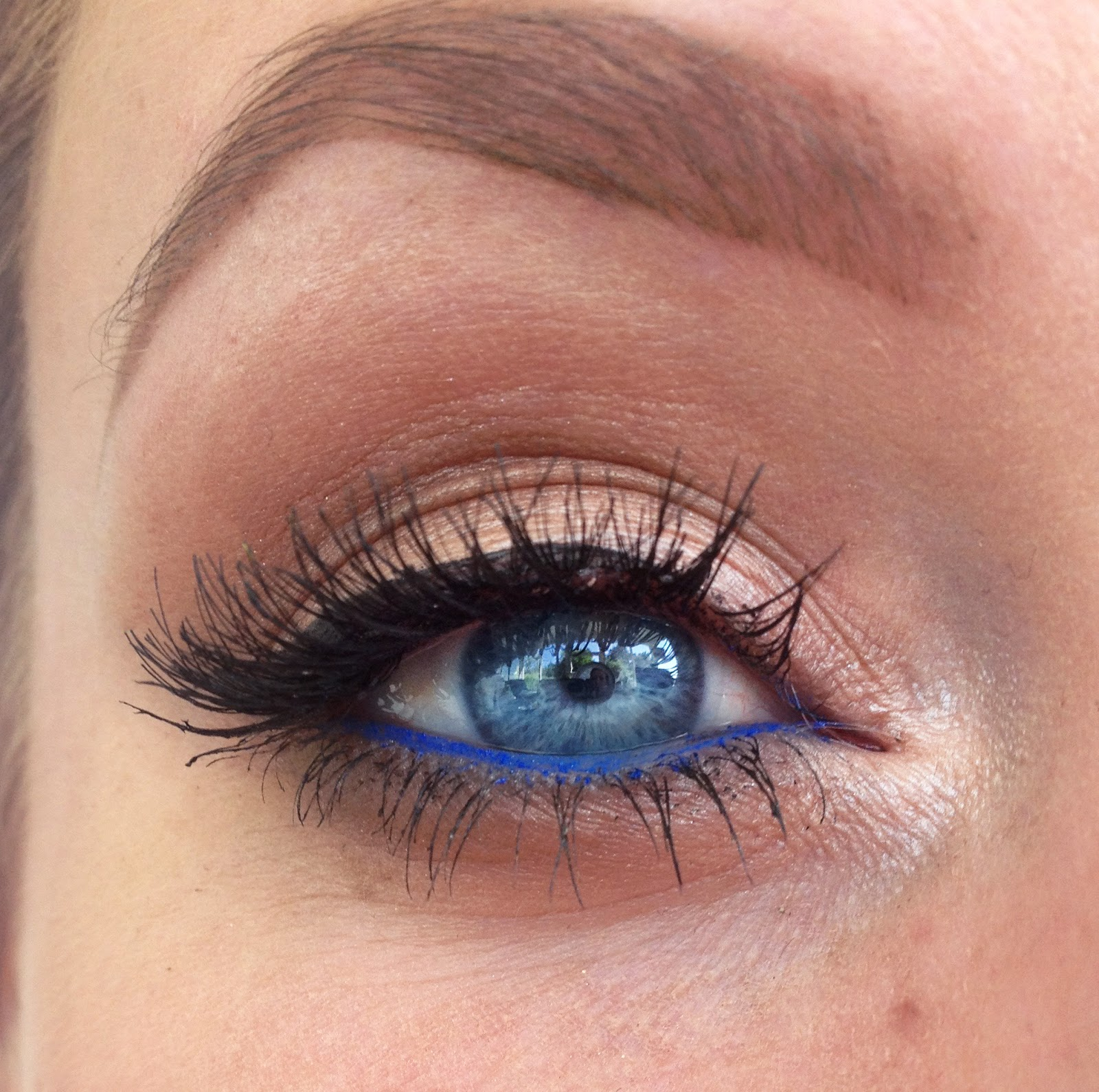 Summer Freckles And Blue Waterline Makeup Look Christines