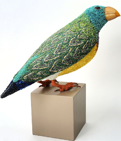 Birds mosaic sculpture by Dusciana Bravura