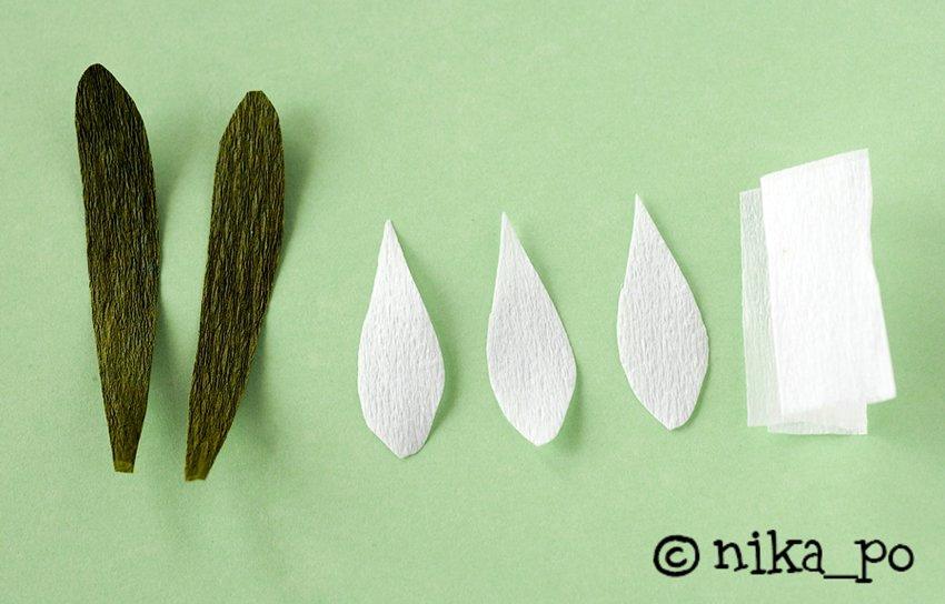 make a paper flower snowdrops