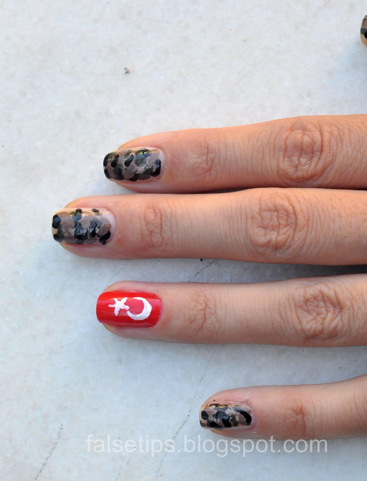Дизайн ногтей на камуфляже фото