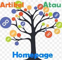 meletakkan backlink menuju homepage atau artikel