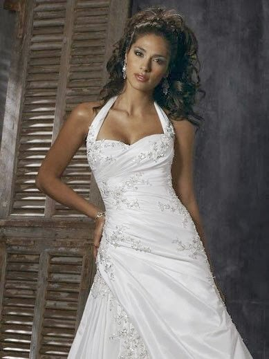 high low halter top wedding dresses | Halter Wedding Dresses With Low Back