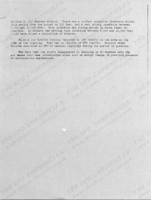 UFO Incident Report Damon, Texas (2) 9-3-1965