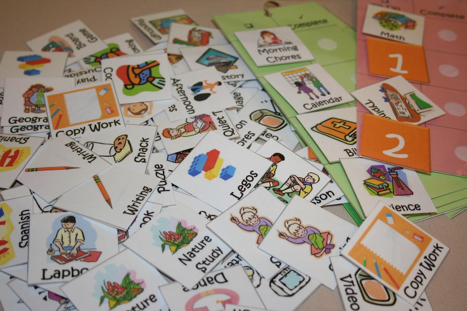 Workbox cards sue patrick homeschool organization schedule strips