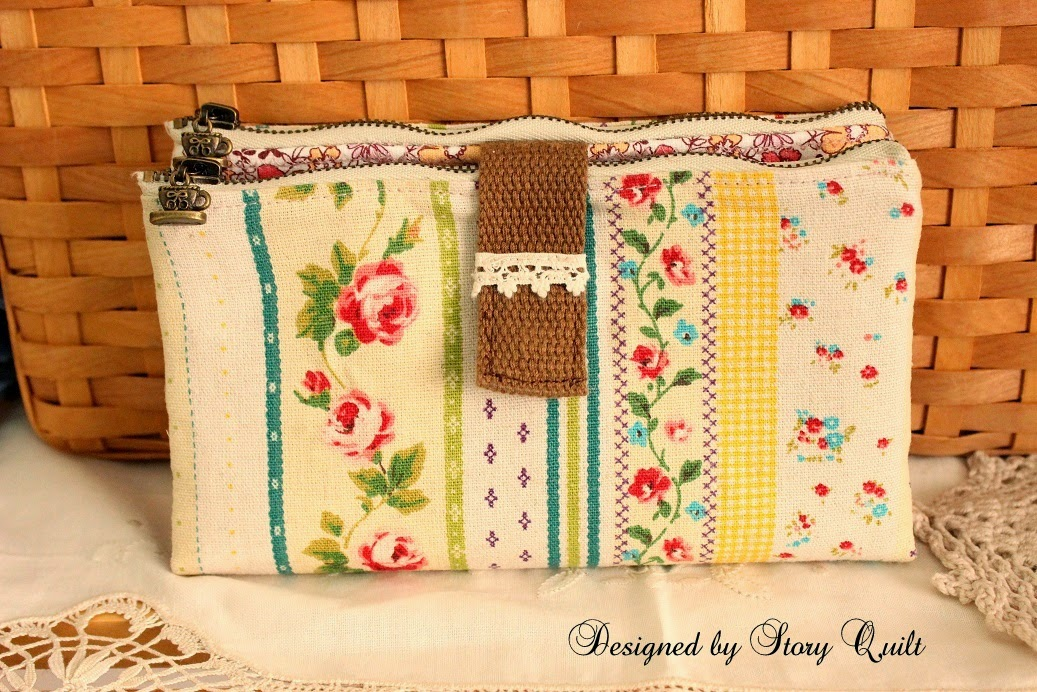 Welcome to Story Quilt: Double zipper long purse sewing pattern