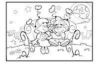 Desenhos para colorir de dia dos namorados parte 4