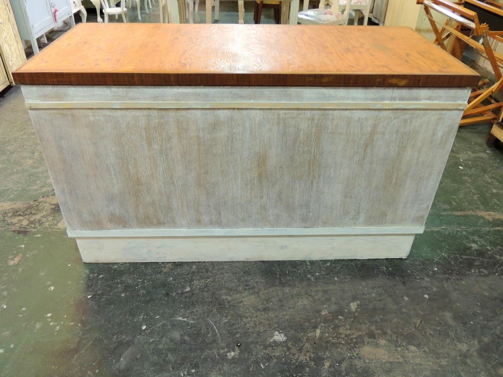 Antiguo gran mueble isla de cocina patinada en blanco con - Mueble isla para cocina ...