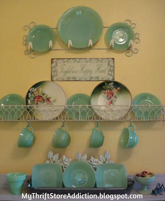 jade plates display