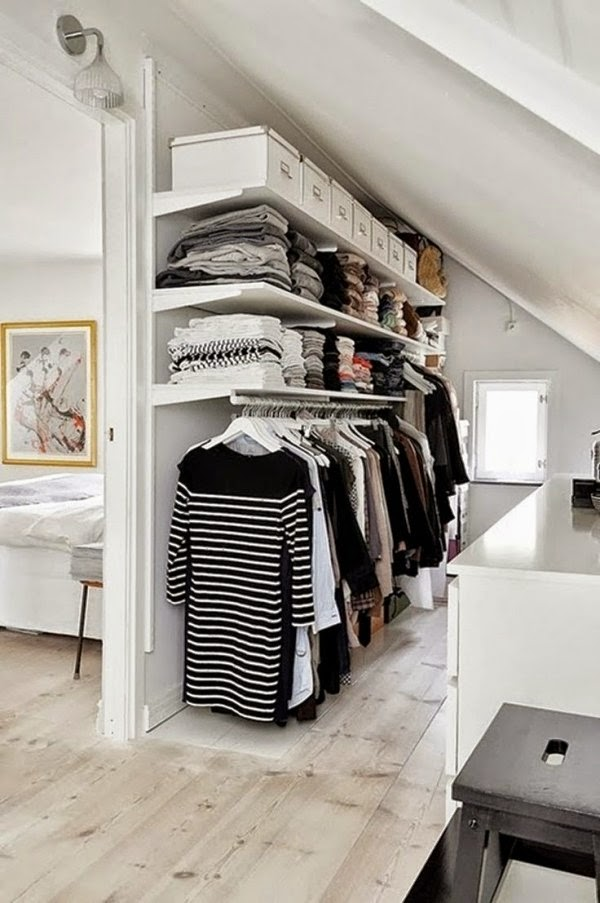 small walk in closet ideas walk in closet under pitched roof