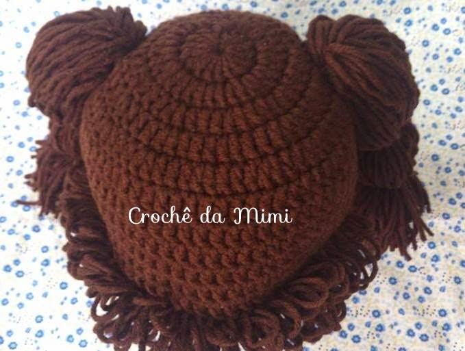 As Receitas de Crochê  Touca boneca em crochê ou peruca em crochê 2f6ec6c48f3